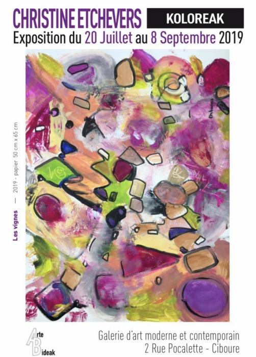 koloreak--christine-etchevers-ek-bere-margolanak-arte-bideak-galerian-erakusten-ditu